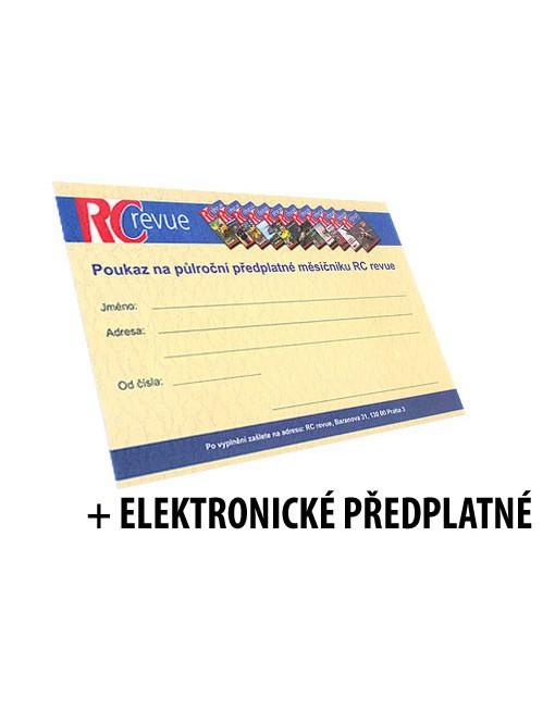 Předplatné RC revue 6 měsíců + elektronické předplatné