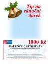 Dárkový certifikát (1000 Kč) tištěný