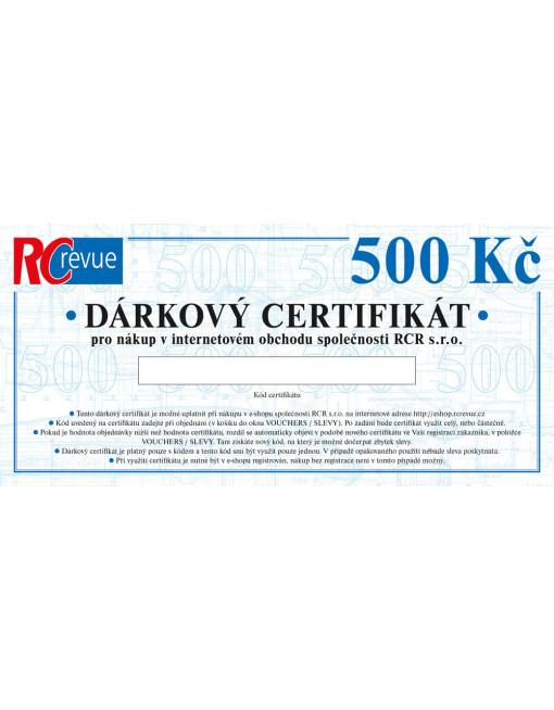 Dárkový certifikát (500 Kč) tištěný
